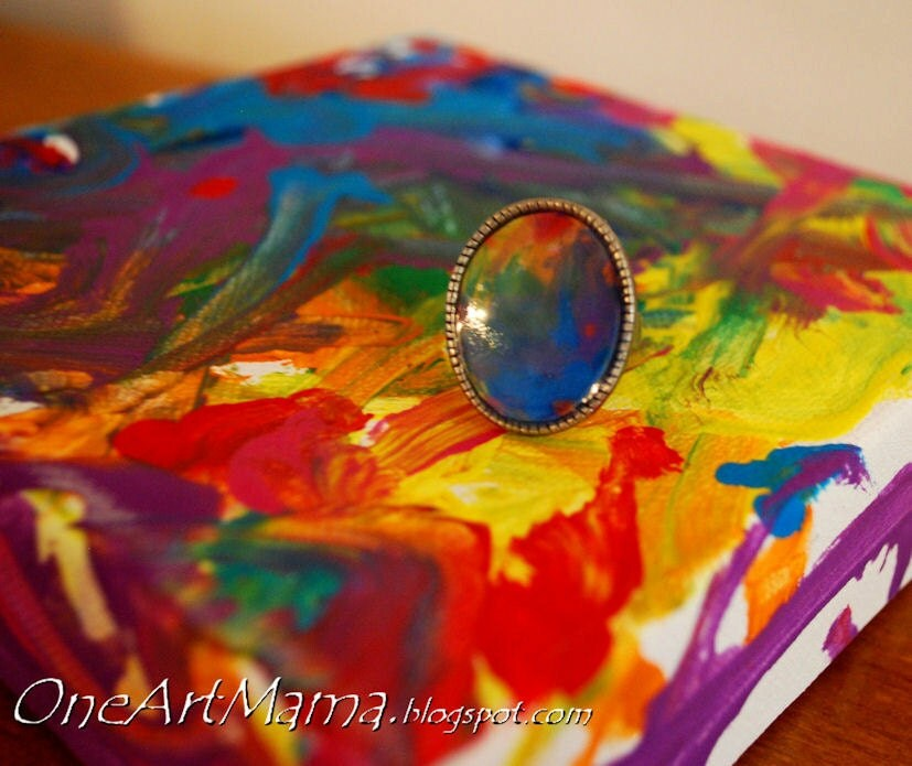 Custom Adjustable Ring: Your Child's Artwork