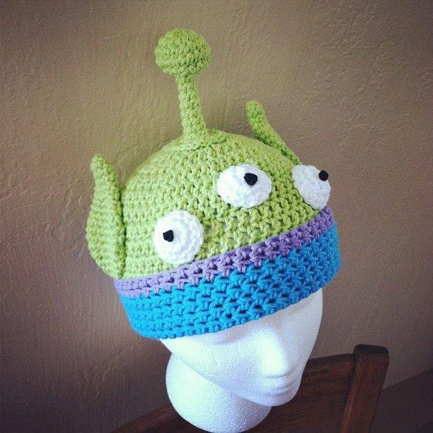 Alien Crochet Hat pattern PDF DIY newborn to adult by lizzziee