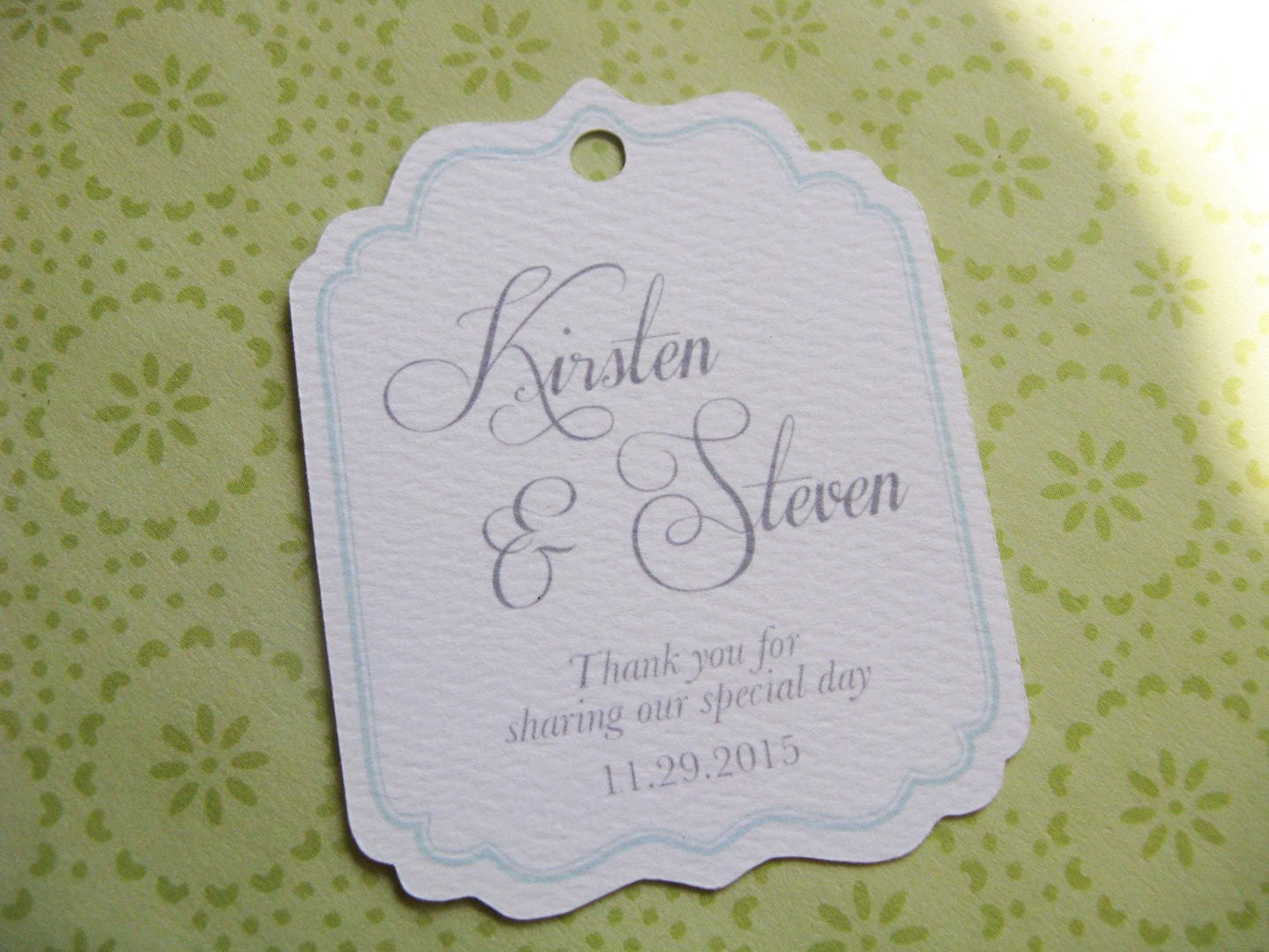 Wedding Favor Tags With Photo : Wedding Favor Tag, Personalized Gift Tags or Shower Favor Tags, Custom ...