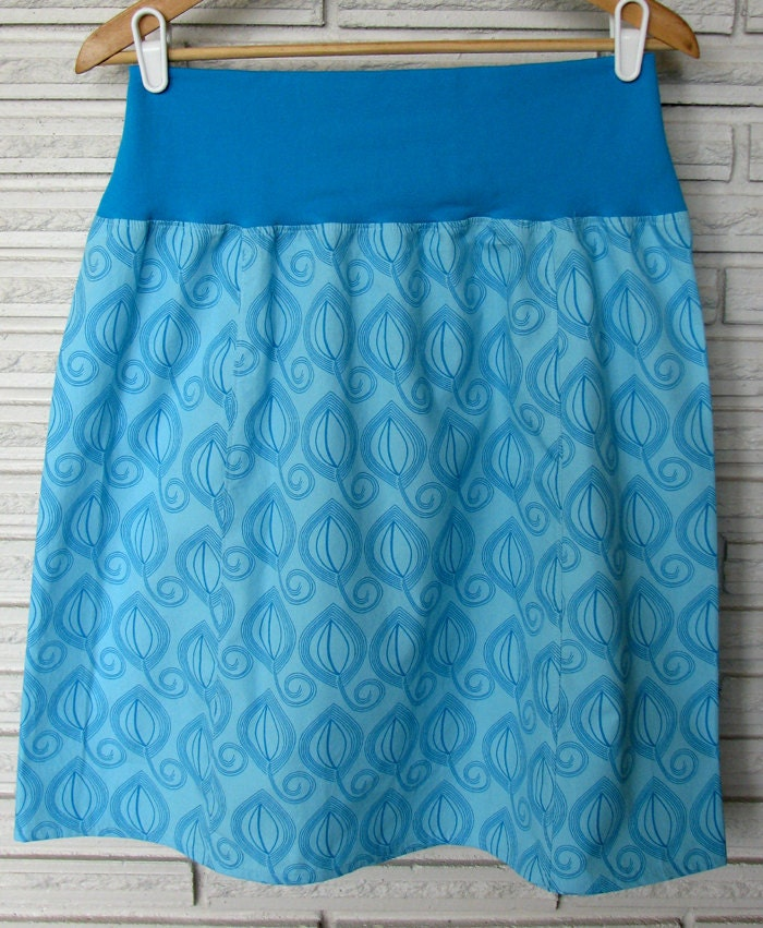 SALE A-Line Skirt, Falling Leaves size Large