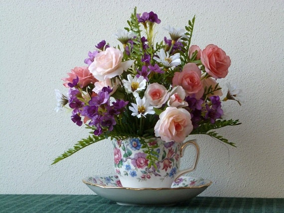 Tea Cup Flower Arrangement Mother 39 S Day By