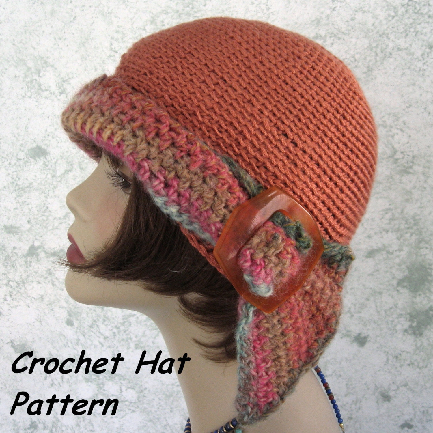 Crochet Womens Hat : Womens Crochet HAT PATTERN Versatile Flapper Girl 3 Ways To Wear PDF ...