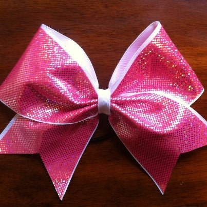 PINK CHEER BOWS on The Hunt Pink Cheer Bow