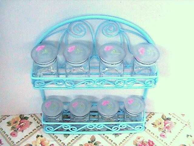 Agua spice rack with eight glass jars - ValerysGallery