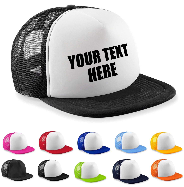 Custom Printed Personalised Half Mesh Baseball Trucker Cap Snapback Cap Hat Hen Party Bridal Party Hats