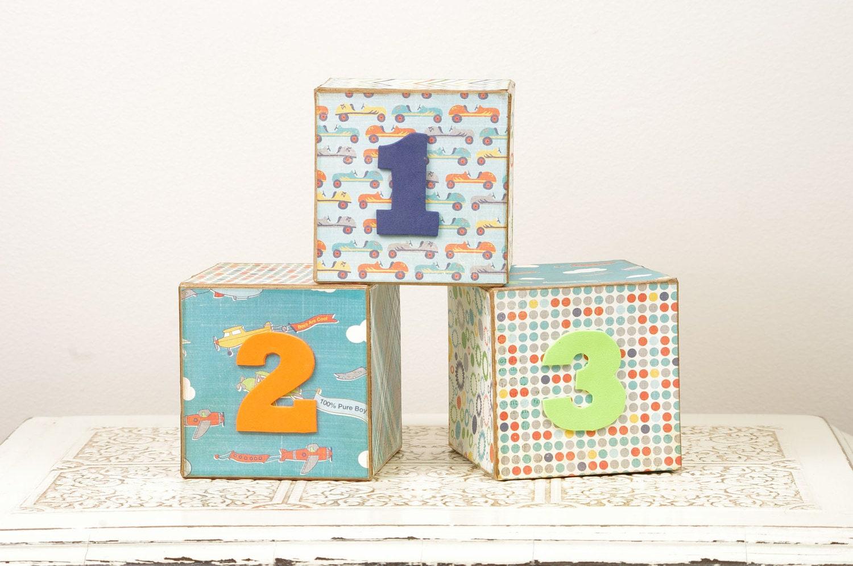 Wooden Blocks toys Digital Geometry Clock Toy Childrens