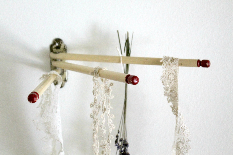 antique wood swing arm towel rack by vintagearcheology on etsy. Black Bedroom Furniture Sets. Home Design Ideas