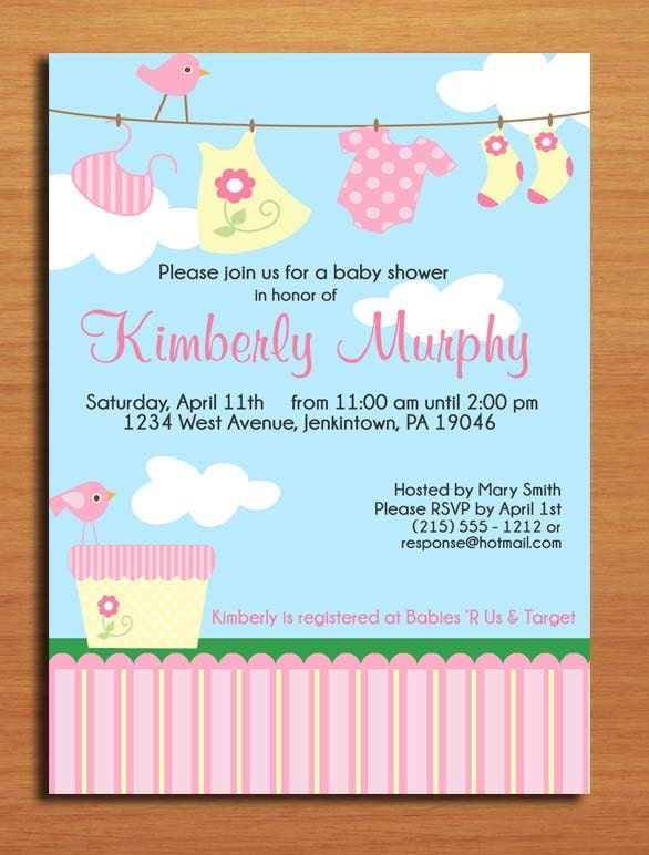 items similar to baby girl laundry baby shower invitation cards