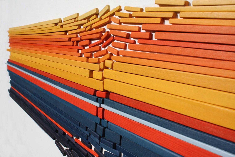 Large Wall Art  Fractured Horizon II  Wall Art  Abstract  Wood Wall Art  Modern Art