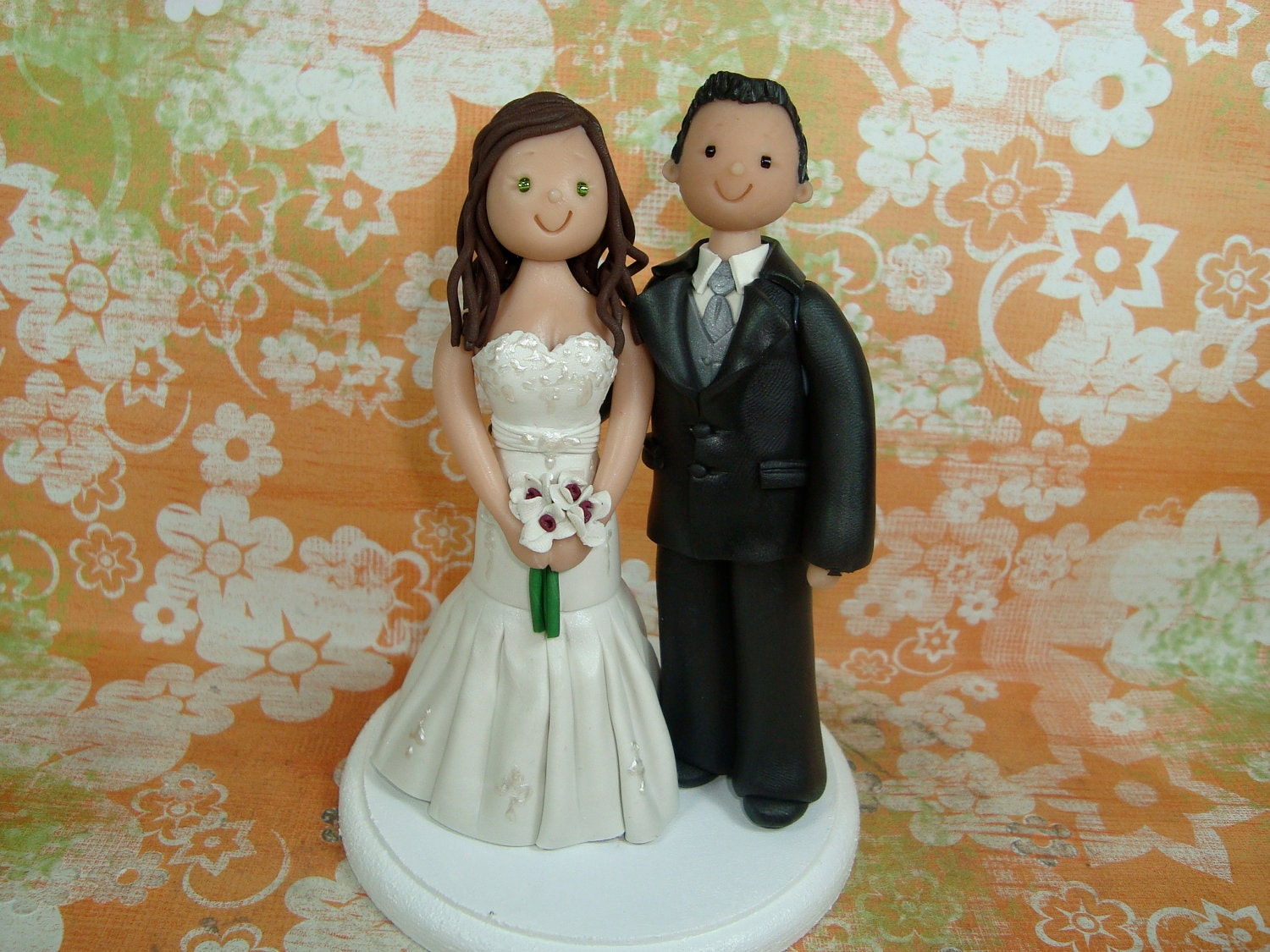 vintage wedding cake toppers bride and groom