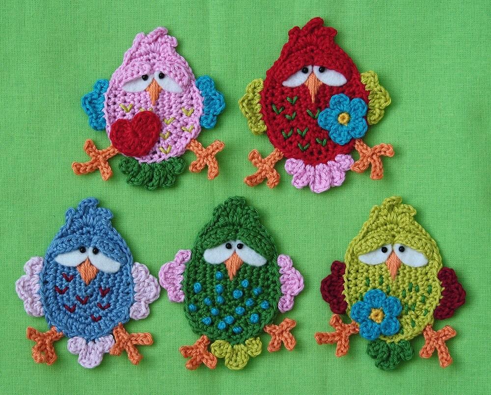 FITSCH, the bird x2 - Bird Crochet Pattern (Applique) PDF