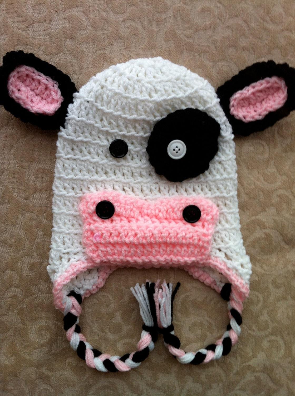 Crochet Pattern Cow Hat : Cow Crochet Hat