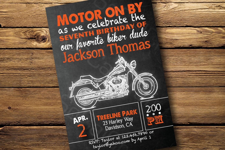 Chalkboard Style Harley Davidson Motorcycle Theme By Socalcrafty