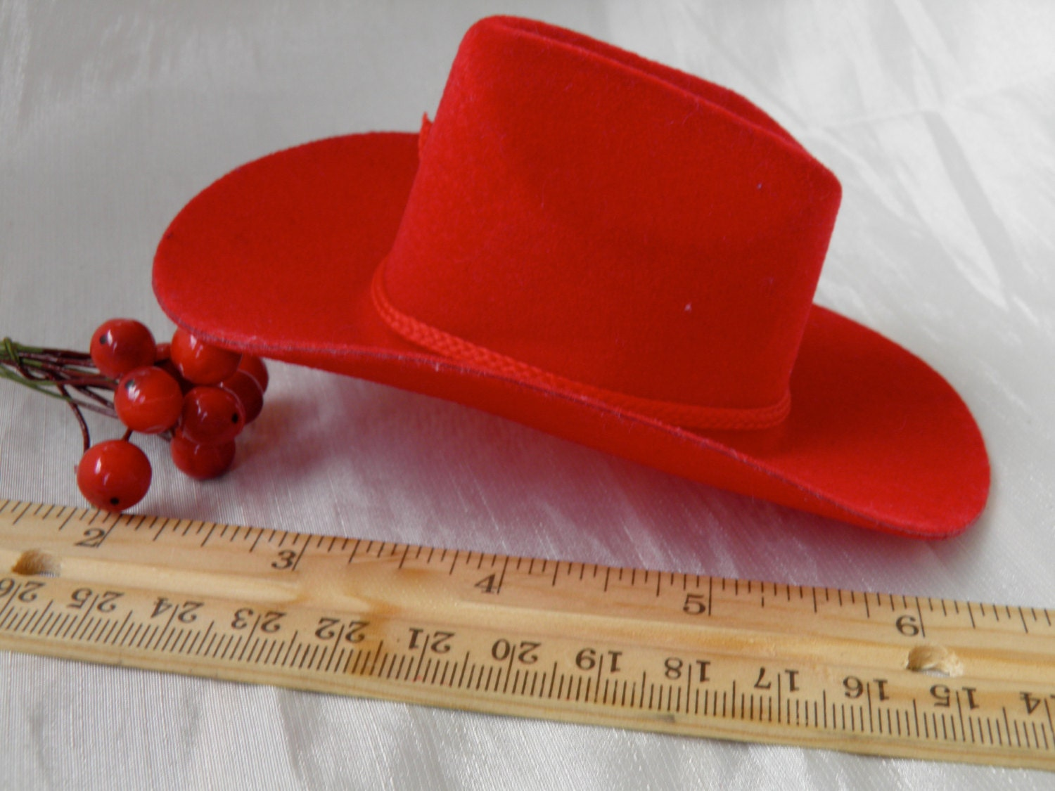 Mini cowboy hat for doll or crafts by greengableslane on etsy for Small cowboy hats for crafts
