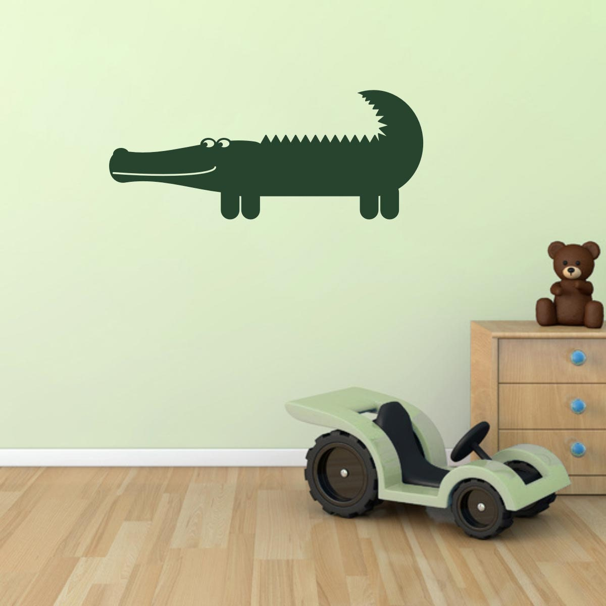 Crocodile Wall Sticker Crocodile Wall Decal Nursery Animal Wall Art Jungle Wall Transfers  AN040