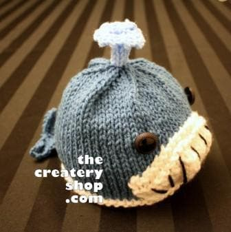 Knitting Pattern Cute Baby Whale Hat PDF by createry on Etsy