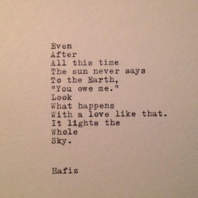 Hafiz The Sun Quotes Quotesgram