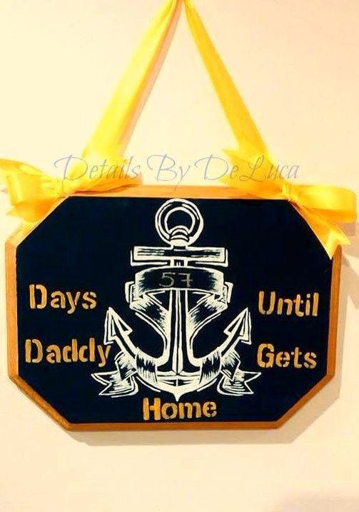 Loved one military countdown wall hanging  - DetailsByDeLuca
