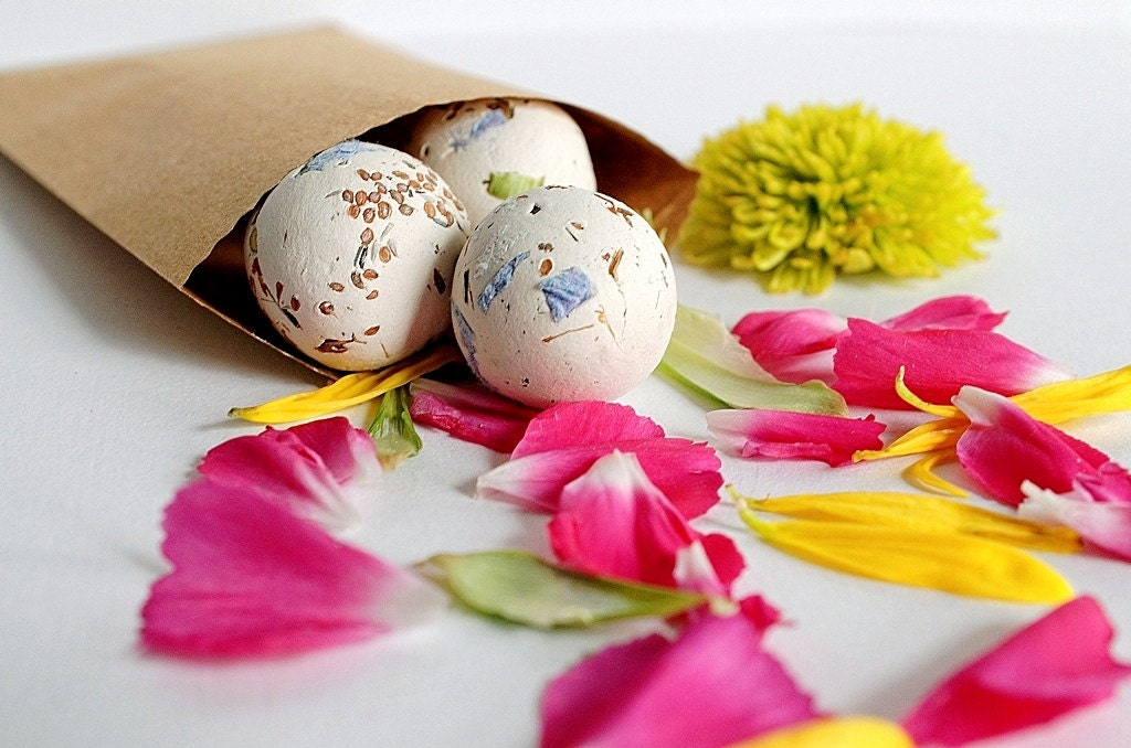 "18 Seed Bomb Balls Wild Flowers ""Hummingbird Butterfly Mix"" Eco Wedding Favors Gifts under 20 - RenaissanceBotanical"
