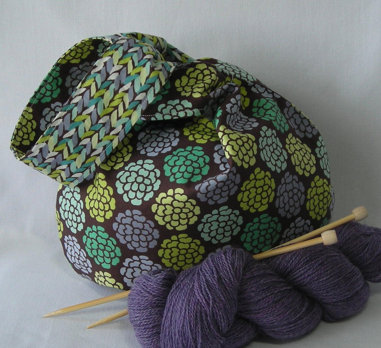 Knot Bag Knitting Pattern : japanese knot bag knitting project bag by lavenderhillknits