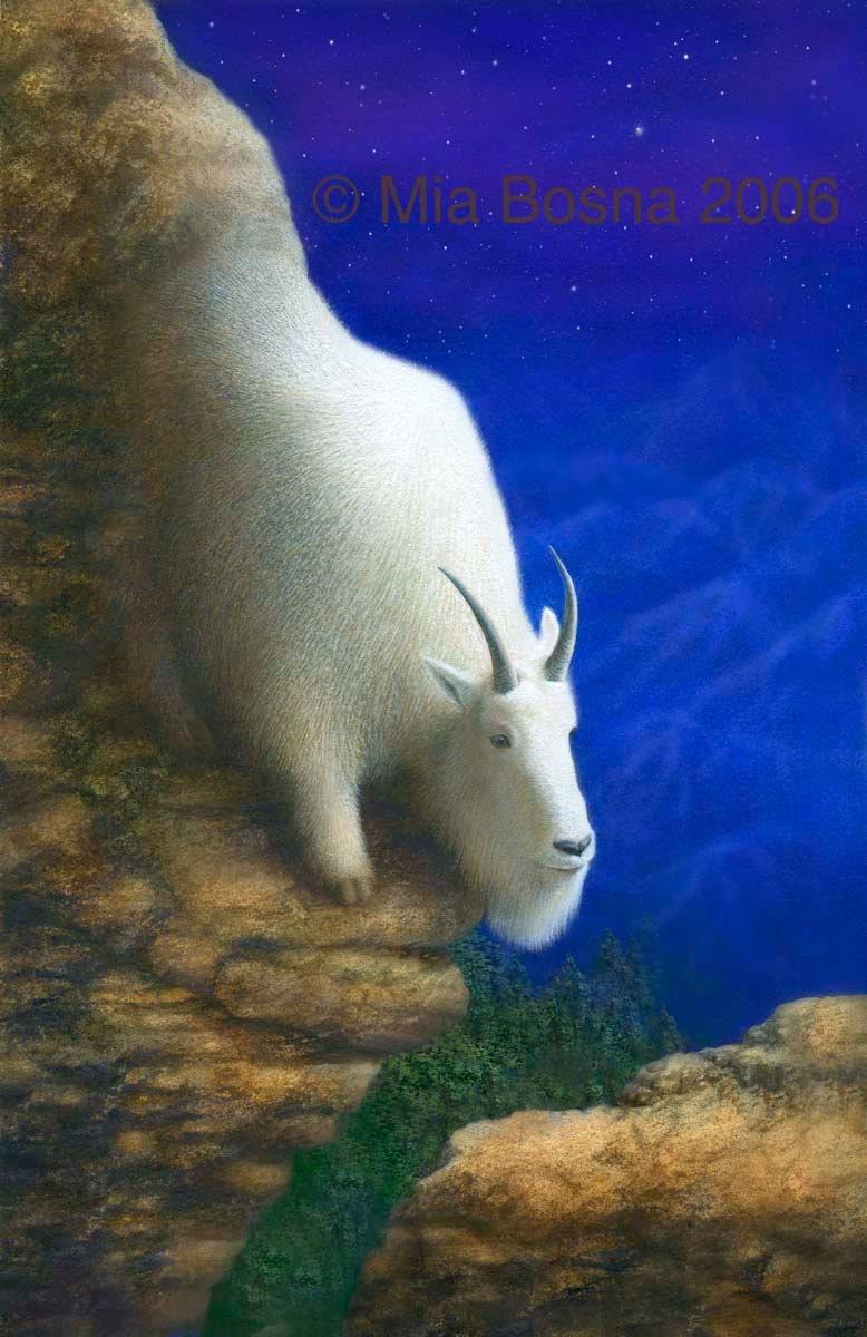 CAPRICORN zodiac art  GoatCapricorn Goat Art