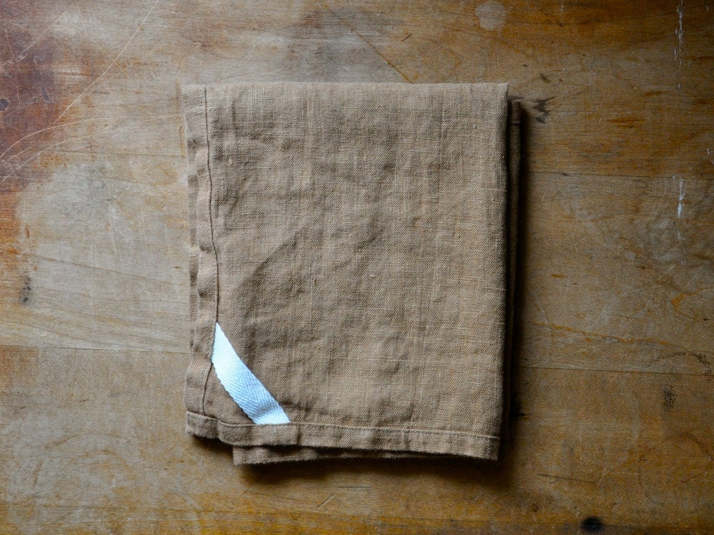 DISH TOWEL - linen brown - smallbatchproduction