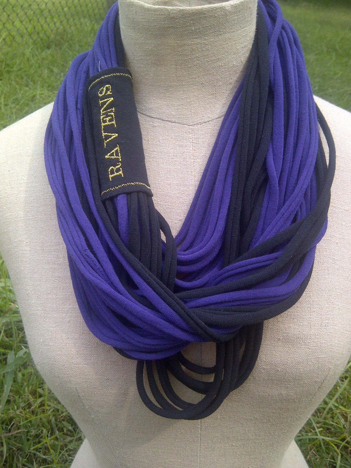 items similar to baltimore ravens infinity scarf on etsy