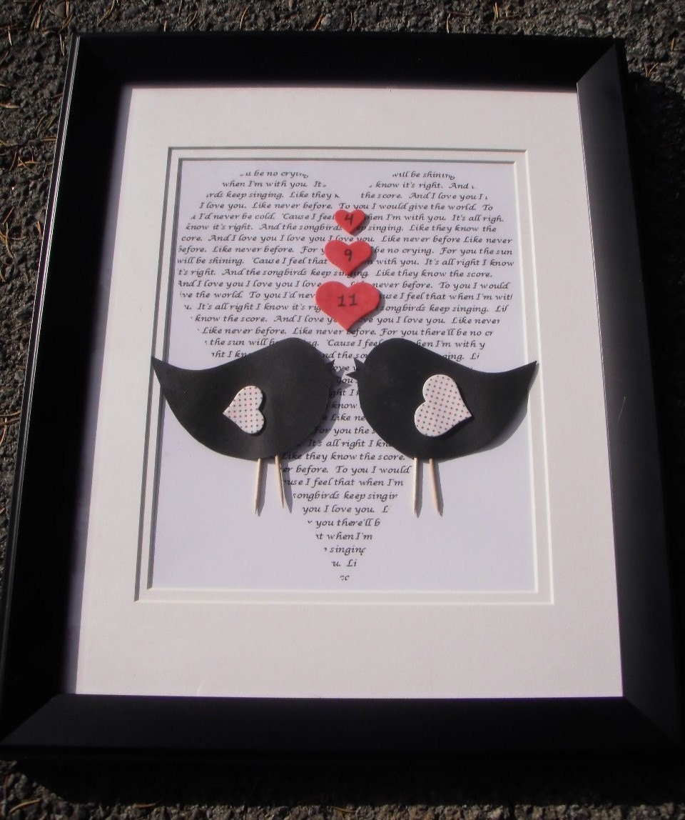Personalized 3D Love Birds Frame Made-To-Order
