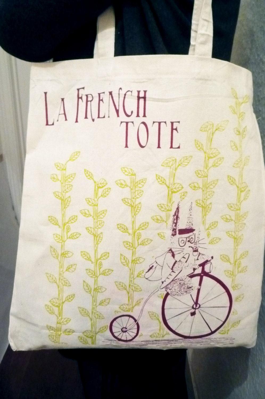 Canvas tote bag La French Tote