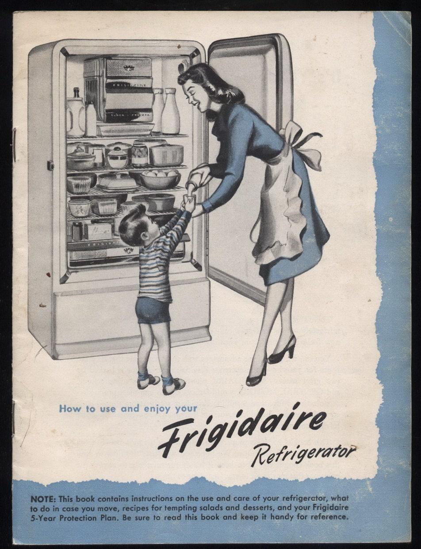 1947 Refrigerator Frigidair Appliance By Vintagebooklover
