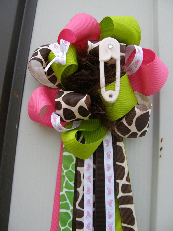 to giraffe corsage baby shower baby shower on etsy