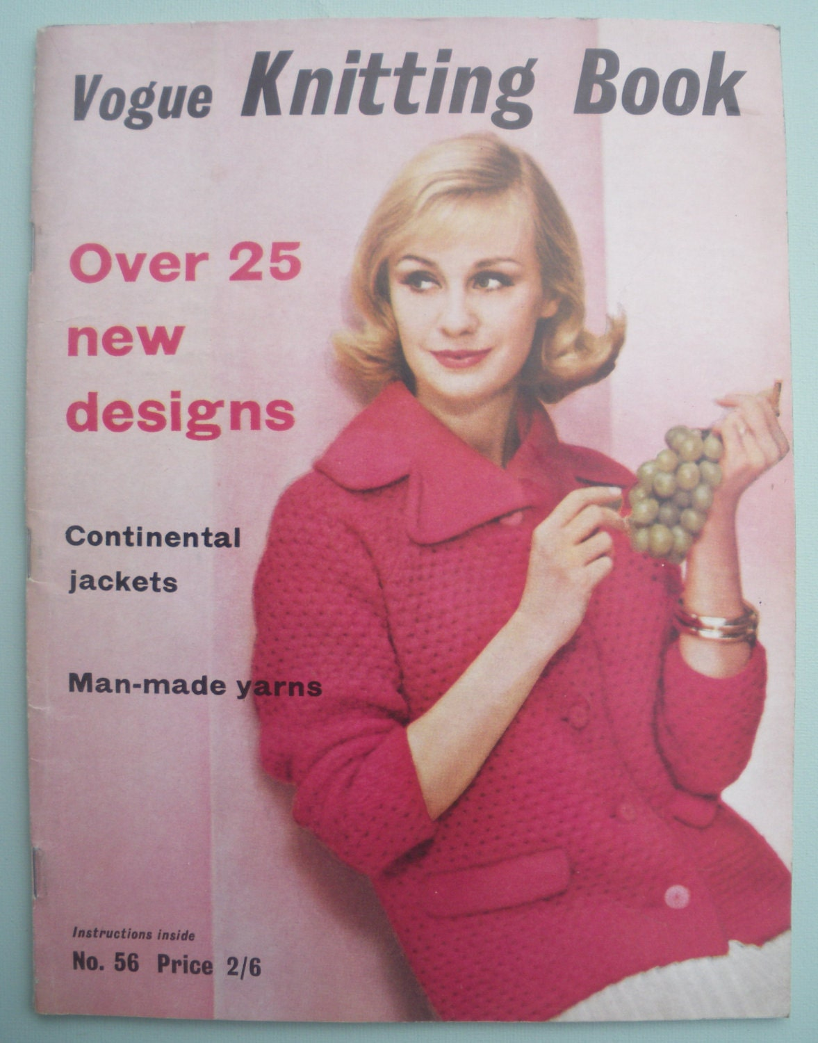 Vintage Vogue Knitting Pattern Books : Vogue Knitting Book No 56 1960 Vintage by sewmuchfrippery