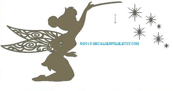Tinkerbell Decal Disney Decals Vinyl Wall Decal by