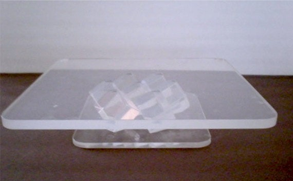 Modern Lucite Cake Stand