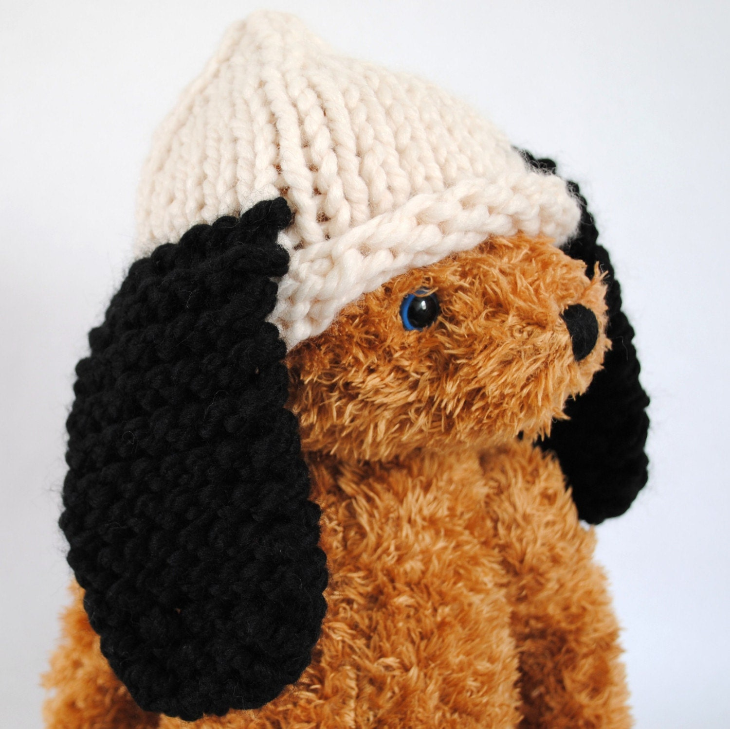 Knitting Pattern Hat With Dog Ears : Hat with Ears for Baby hand knit dog ears in by Stockannette