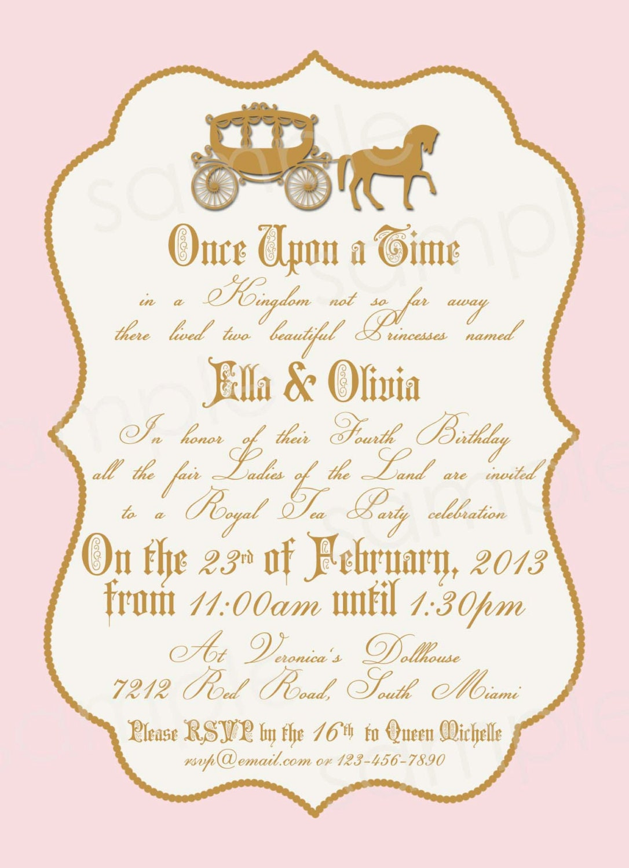 Royal Princess Birthday Party Invitation DIY by modpoddesigns