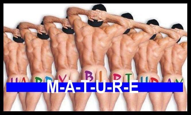 nude men happy birthday
