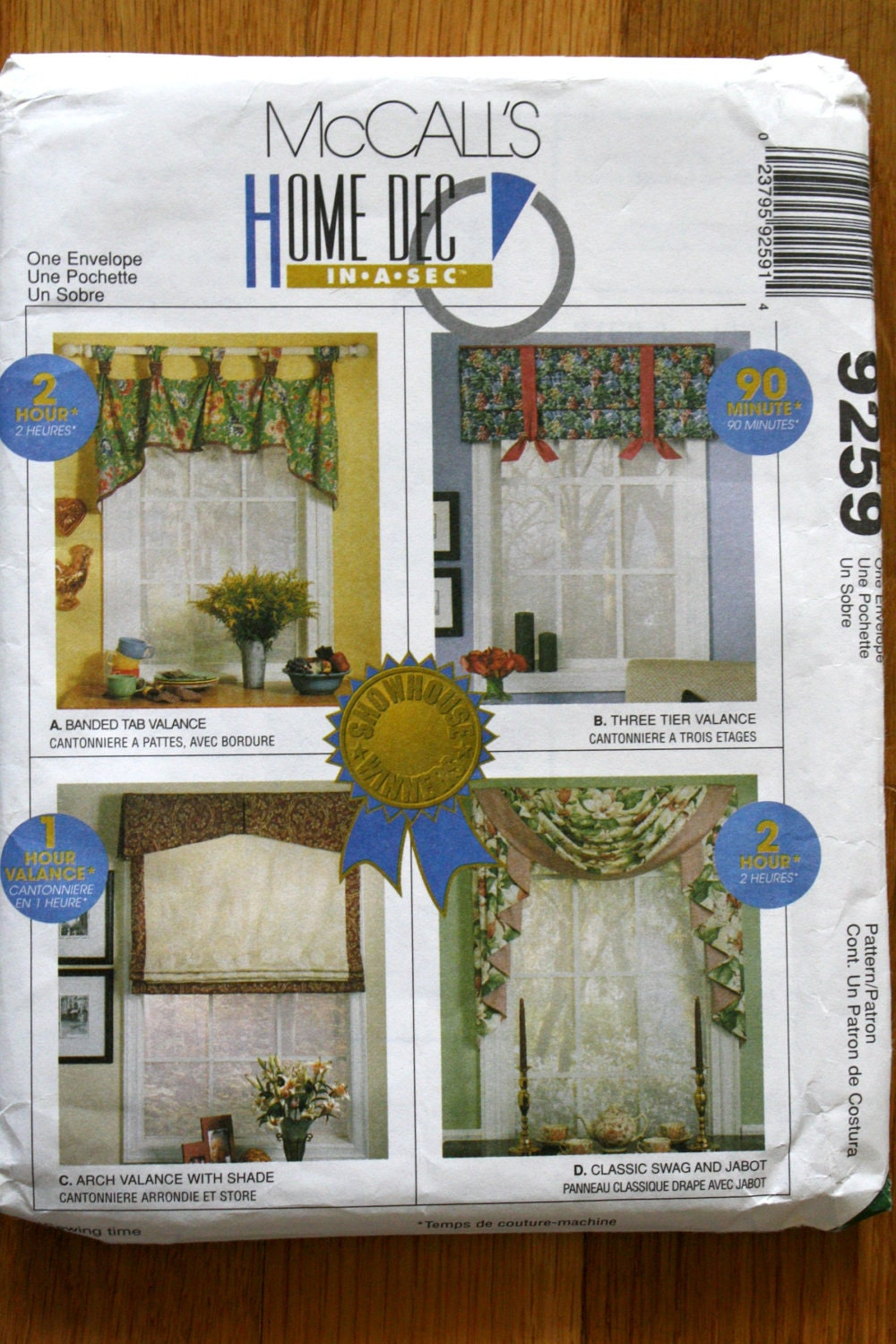 McCalls 9259 Classic Curtains Sewing Pattern by ChellysShoppe