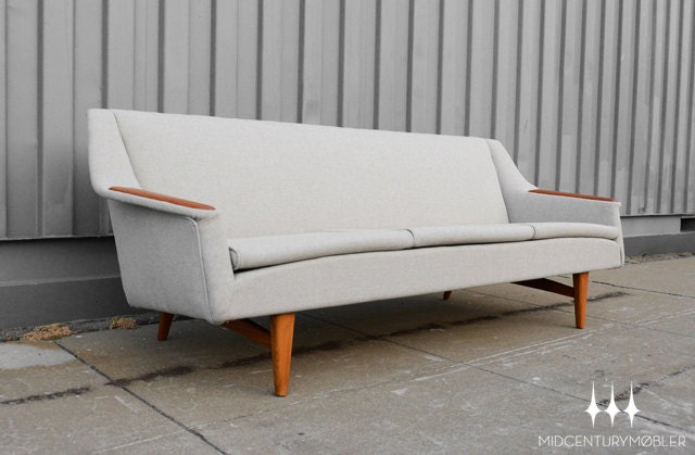 Mid Century Modern Teak Couch / Sofa by Westnofa of Norway - MidCenturyMobler