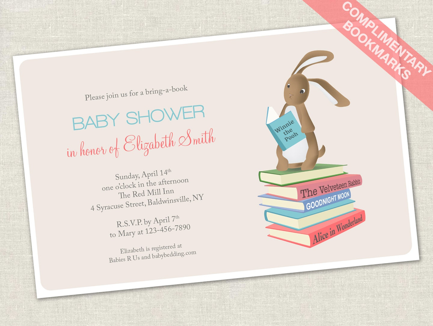 Book Themed Baby Shower Invitation is awesome invitations template