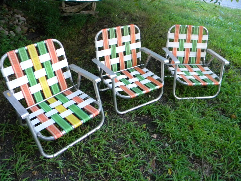 Vintage child rocking chair - Clean Vintage Retro 1960s 1970s Webbed Aluminum Folding Lawn Beach