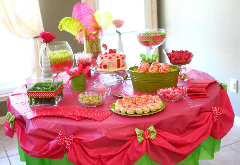 Дизайн стола на день рождения