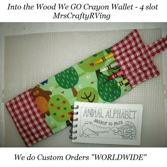 Crayon Wallet, Into the Woods We Go, Wallet Crayon, Little Red Riding Hood Wallet, 3 Little Pigs - MrsCraftyRVing