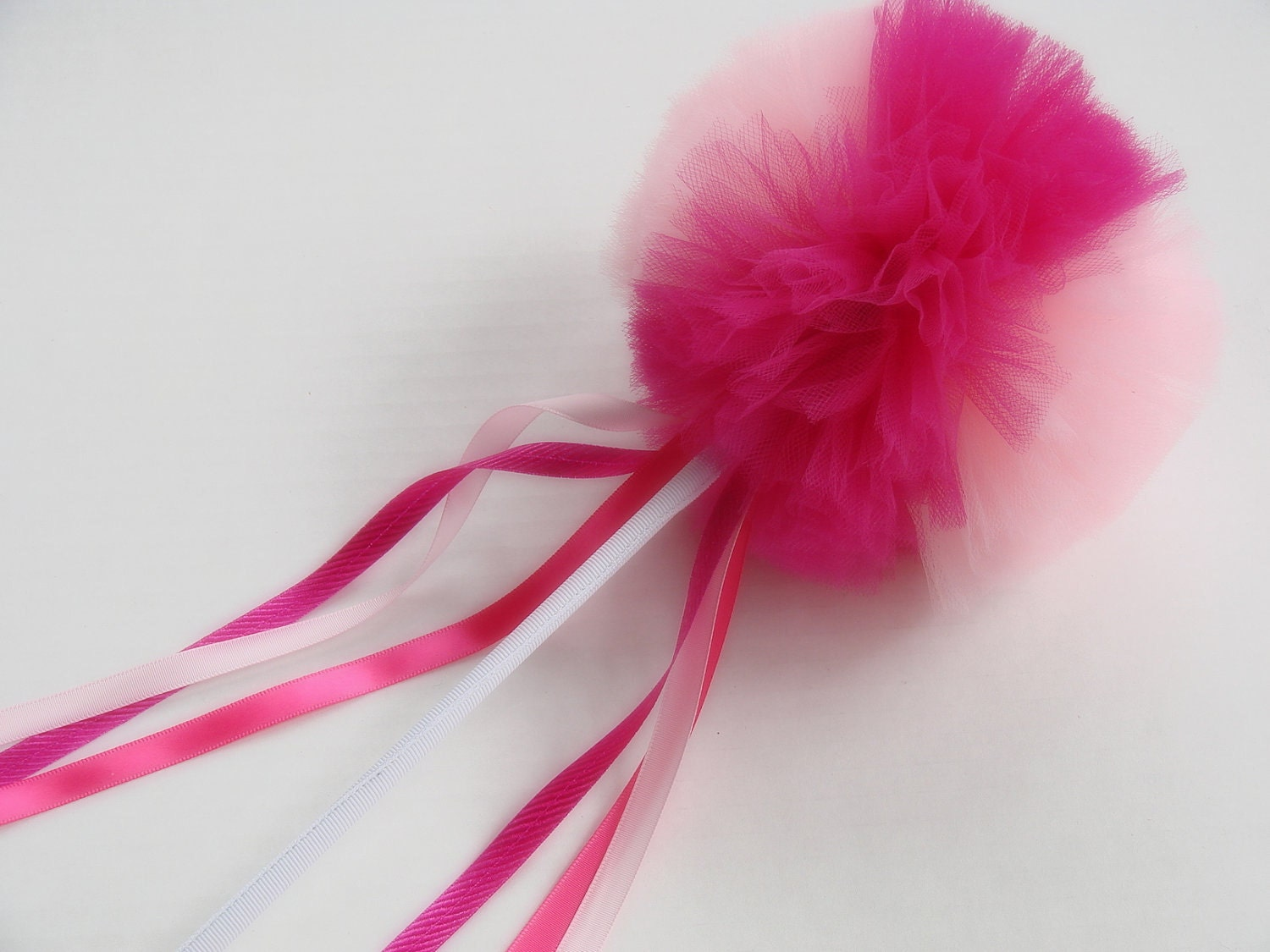 Fuschia Pink and Light Pink Whimsy Wishing Wand - whimsywendy