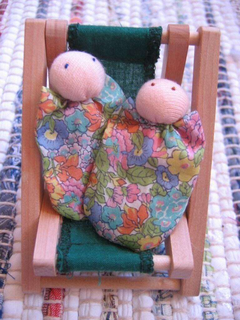 Mini Waldorf Twin Dolls