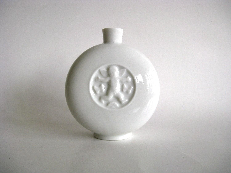 White Royal Copenhagen Denmark vase.