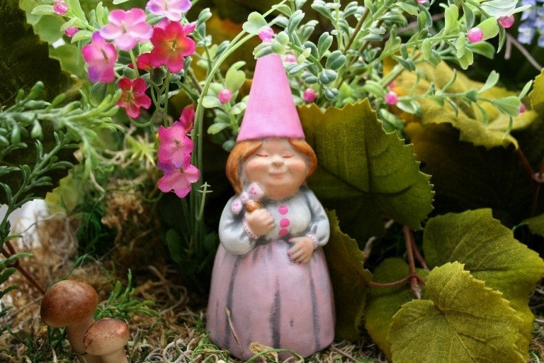 Female Gnome Lady Lawn Gnomes Customized Just By Phenomegnome