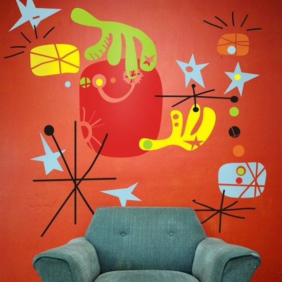Make your own miro mural vinyl wall decals by beepart on etsy for Create your own mural
