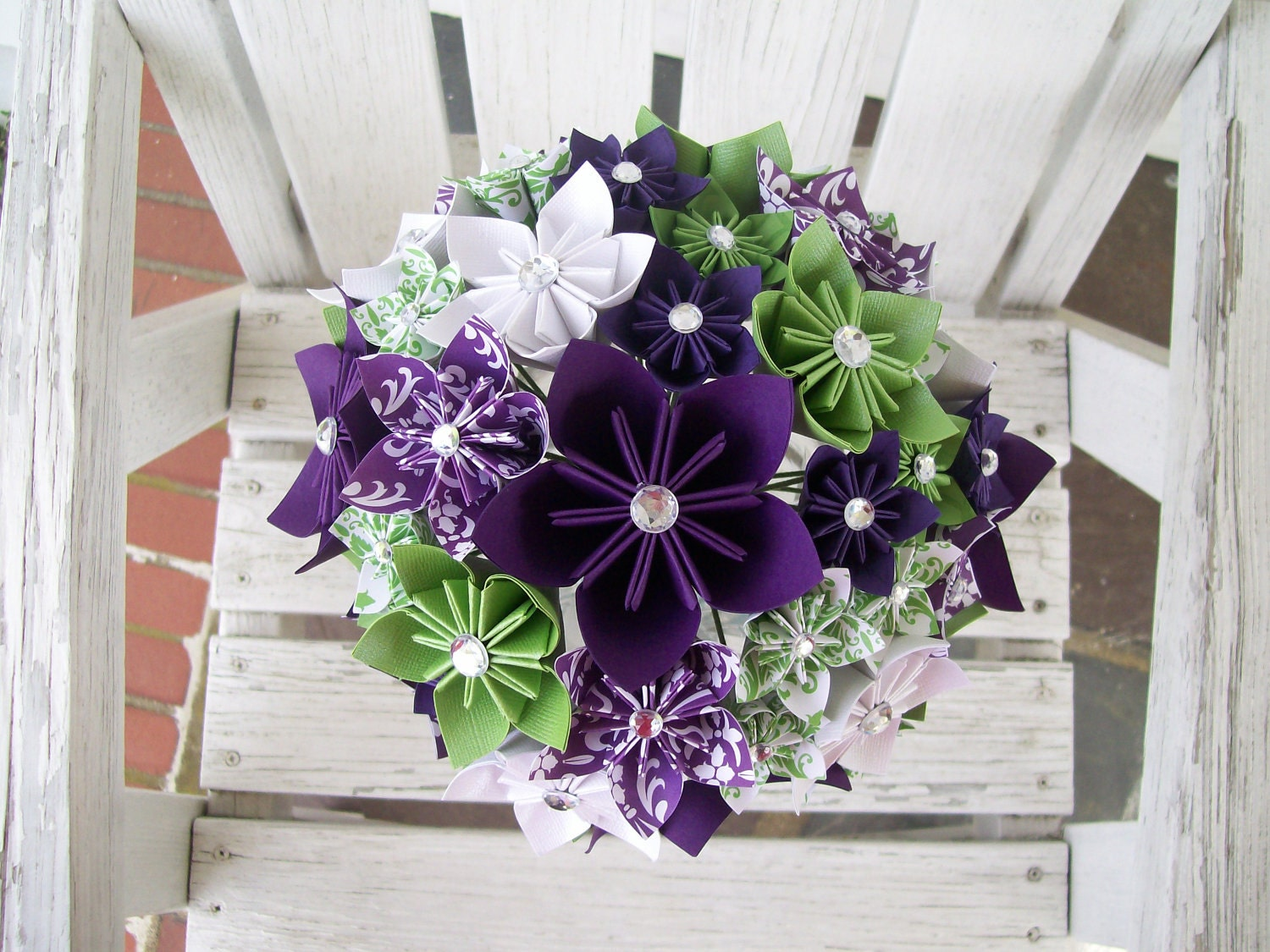 Wedding Paper Bouquet Of Flowers : Wedding paper flower package bouquets by poshstudios on etsy