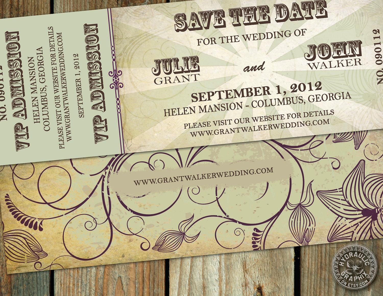 Concert Ticket Invitations was adorable invitations ideas